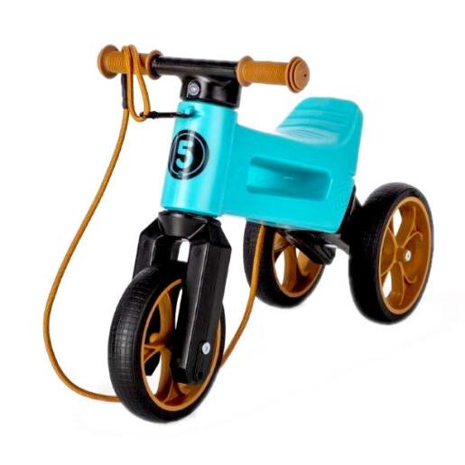 Bicicleta fara pedale Funny Wheels SuperSport 2 in 1 Aqua