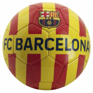 Minge de fotbal FC Barcelona CATALUNYA Yellow Red Stripes marimea 5