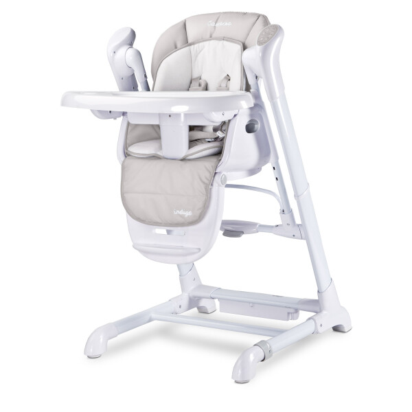 Scaun de masa cu leagan electric Caretero INDIGO 2 in 1 Light Grey